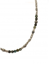 ElfCraft tubular necklace in silver African turquoise and labradorite