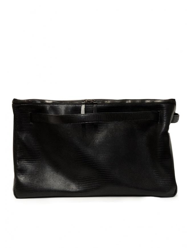 D'Ottavio E70 borsone nero con stampa a lucertola E70TS999 valigeria online shopping