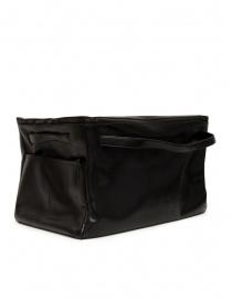 D'Ottavio E70 borsone nero con stampa a lucertola