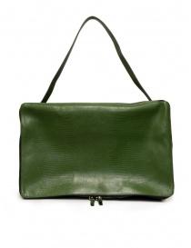 D'Ottavio E70 borsone verde effetto lucertola