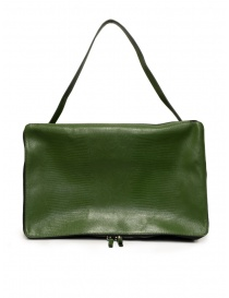 D'Ottavio E70 green duffle bag with lizard effect