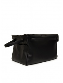 D'Ottavio E70 duffle bag in black leather travel bags buy online