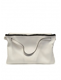 Travel bags online: D'Ottavio E70 white leather duffle bag