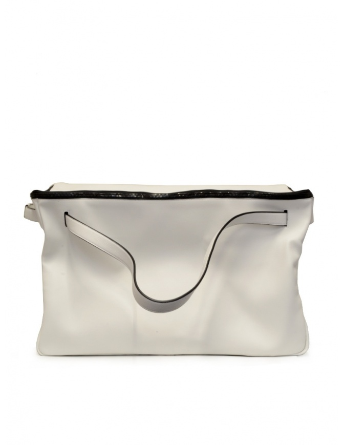 D'Ottavio E70 white leather duffle bag E70VO101 travel bags online shopping