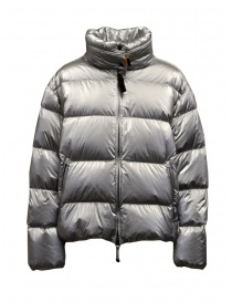 Womens jackets online: Parajumpers Pia silver short down jacket