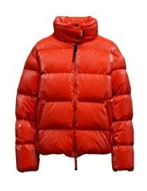 Womens jackets online: Parajumpers Pia tomato short down jacket