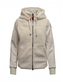 Womens jackets online: Parajumpers Moegi white plush hoodie