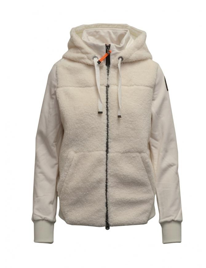 Parajumpers Moegi white plush hoodie PWFLEPF33 MOEGI WHITE 513 womens jackets online shopping