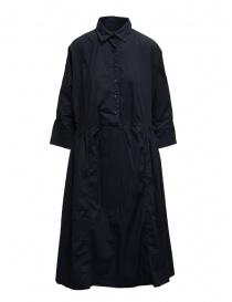 Casey Casey maxi vestito a camicia in cotone blu 15FR293 NAVY order online