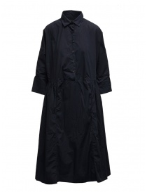 Womens dresses online: Casey Casey maxi shirt dress in blue cotton