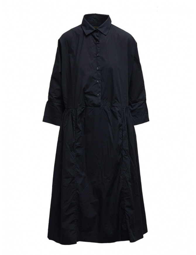Casey Casey maxi shirt dress in blue cotton 15FR293 NAVY womens dresses online shopping