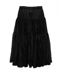 Casey Casey pleated knee-length skirt in black silk