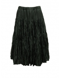 Casey Casey pleated knee length skirt in green silk online