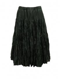Casey Casey pleated knee length skirt in green silk 15FJ90 MOSS order online
