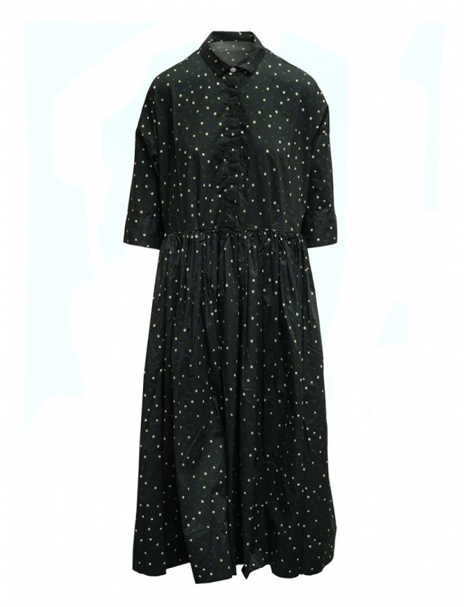 Casey Casey khaki green polka dot long shirt dress 15FR327 KAKI womens dresses online shopping
