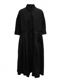 Womens dresses online: Casey Casey long dress in black cotton