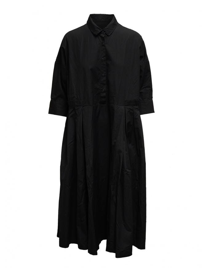 Casey Casey long dress in black cotton 15FR332 BLACK womens dresses online shopping