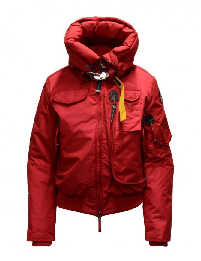 Parajumpers Gobi bomber rosso con cappuccio PWJCKMB31 GOBI SCARLET 723 giubbini donna online shopping