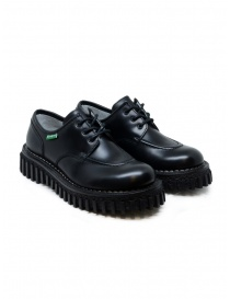 Womens shoes online: Adieu x Kickers Aktive black shoes