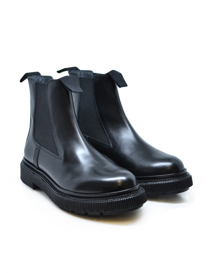 Adieu x Etudes black leather ankle boot TYPE 146 POLIDO BLACK womens shoes online shopping