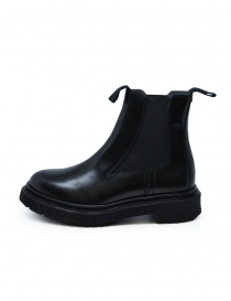 Adieu x Etudes black leather ankle boot buy online