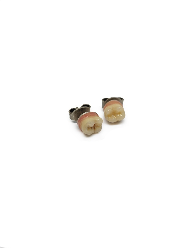 Carol Christian Poell earrings with teeth MF/0498 MF/0498 SILVER jewels online shopping