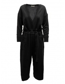 Womens dresses online: Hiromi Tsuyoshi jumpsuit in black wool and silk