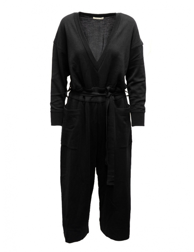 Hiromi Tsuyoshi jumpsuit in black wool and silk RM20-003 BLACK womens dresses online shopping