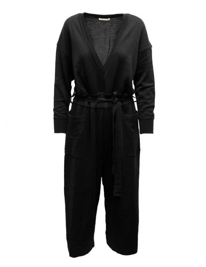 Hiromi Tsuyoshi tuta in lana e seta nera RM20-003 BLACK abiti donna online shopping