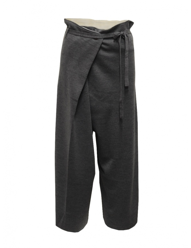 Hiromi Tsuyoshi grey wool knitted trousers for woman RM20-007 GRAY womens trousers online shopping