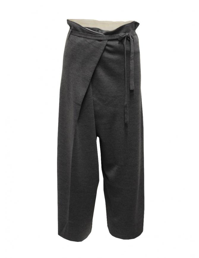Hiromi Tsuyoshi pantaloni in maglia di lana grigi da donna RM20-007 GRAY pantaloni donna online shopping