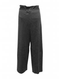 Hiromi Tsuyoshi grey wool knitted trousers for woman