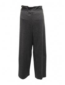 Hiromi Tsuyoshi pantaloni in maglia di lana grigi da donna