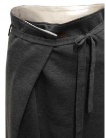 Hiromi Tsuyoshi pantaloni in maglia di lana grigi da donna prezzo