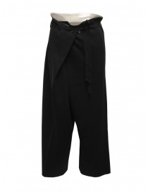 Hiromi Tsuyoshi black wool knitted trousers for woman online