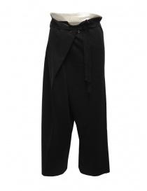 Hiromi Tsuyoshi pantaloni in maglia di lana neri da donna online