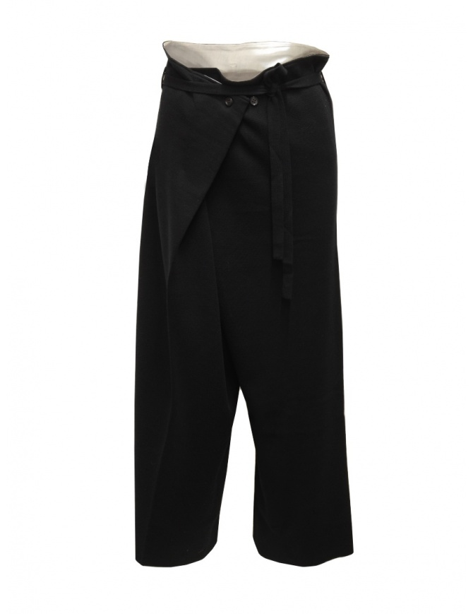 Hiromi Tsuyoshi black wool knitted trousers for woman RM20-007 BLACK womens trousers online shopping