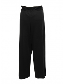 Hiromi Tsuyoshi black wool knitted trousers for woman