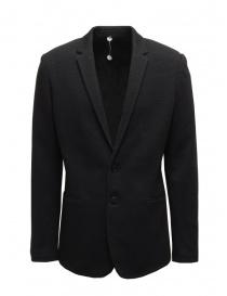 Giacche uomo online: Label Under Construction blazer in maglia di lana nero