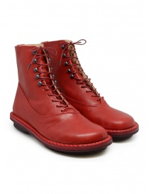 Womens shoes online: Trippen Mascha red ankle boots with hooks