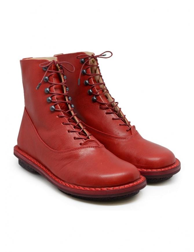 Trippen Mascha stivaletti rossi con ganci MASCHA F RED-WAW calzature donna online shopping