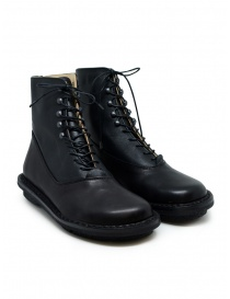 Womens shoes online: Trippen Mascha black leather lace-up boots