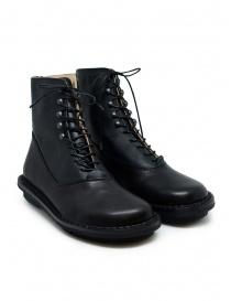 Calzature donna online: Trippen Mascha stivali in pelle nera con lacci