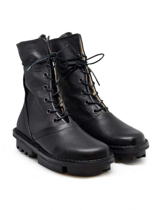 Trippen Average black calf leather boots AVERAGE F BLACK-WAW BLACK-SAT womens shoes online shopping