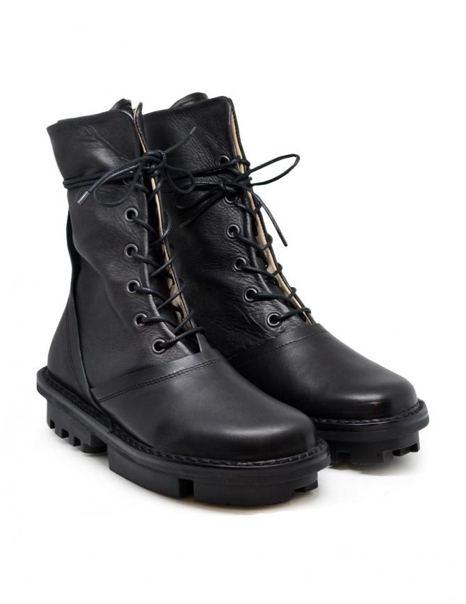 Trippen Average stivali in pelle di vitello nera AVERAGE F BLACK-WAW BLACK-SAT calzature donna online shopping