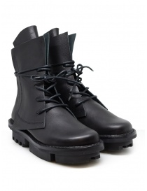 Womens shoes online: Trippen Rectangle black boots with Trace sole