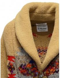 Coohem Maxi cardigan in lana beige a stampa geometrica