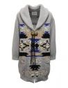 Coohem Maxi cardigan grigio con stampa geometrica acquista online 204-003 GREY