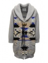 Coohem maxi geometric cardigan in grey buy online 204-003 GREY