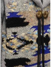 Coohem Maxi cardigan grigio con stampa geometrica cappotti donna acquista online
